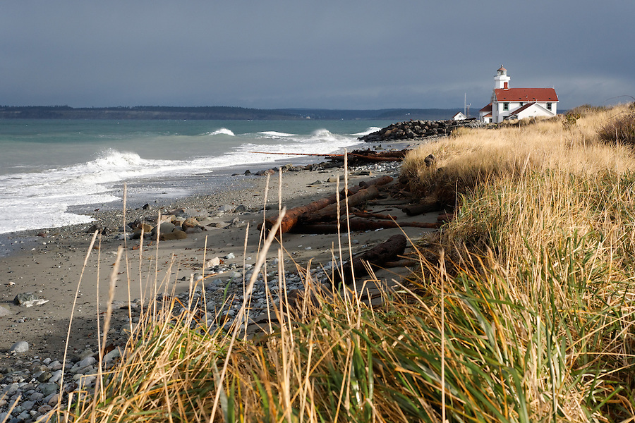 Point Wilson Lighthouse, Fort Worden State Park, Washington, USA