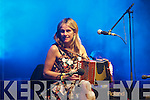 Sharon Shannon and her band playing a free concert in Denny Street at the Rose of Tralee festival on Monday night.