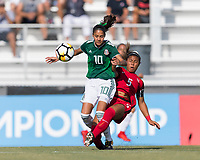 Bradenton, FL - Sunday, June 12, 2018: Alison Gonzalez, Kennedy Wesley during a U-17 Women's Championship Finals match between USA and Mexico at IMG Academy.  USA defeated Mexico 3-2 to win the championship.