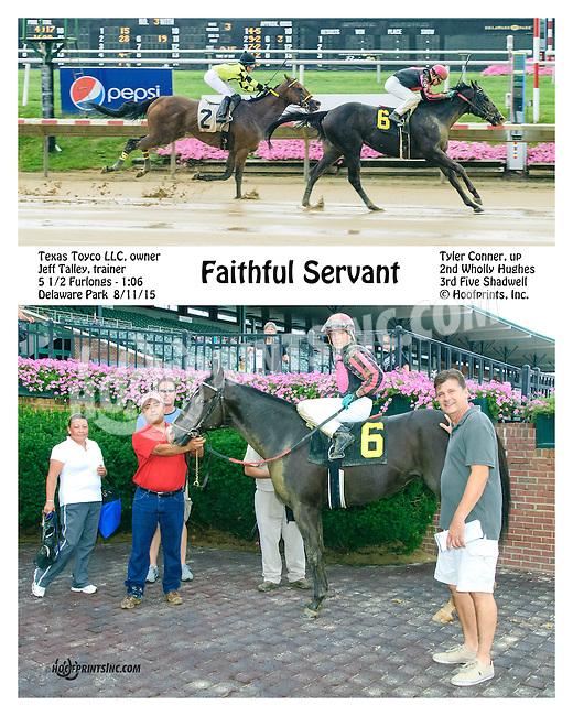 Faithful Servant winning at Delaware Park on 8/11/15
