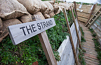BNPS.co.uk (01202 558833)<br /> Pic: PhilYeomans/BNPS<br /> <br /> Students of Garth Hill College in Bracknell get used to life in the trenches.<br /> <br /> Class War - A school has turned part of its playground into a replica First World War trench system that makes an fascinating and poignant living history classroom.<br /> <br /> The scaled down trenches allows pupils to get an authentic, hands-on lesson on what life and conditions were like for the unfortunate soldiers who served on the Western Front. <br /> <br /> As well as being given educational talks, students also get muddy taking part in re-enactment demonstrations in the trenches. <br /> <br /> The attention to detail includes replica rifles, bayonets, shell casings and even models of the ever present rats.<br /> <br /> The outdoor classroom is the first of its kind in the country and schools from miles around are booking up visits for their students to experience the real feel of the award winning movie 1917.