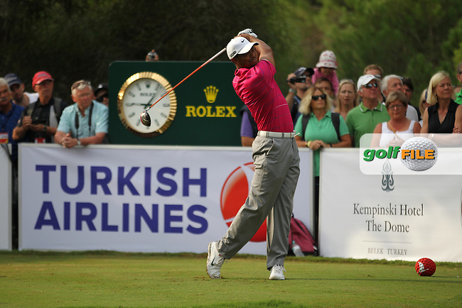 Tiger Woods (USA) during day 2 of the Turkish Airlines World Golf Final in Antalya Golf Club, Antalya, Turkey..Picture: Fran Caffrey/www.golffile.ie.