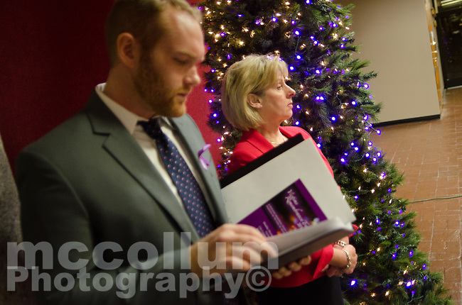 Michael McCollum<br /> 12/11/17<br /> HOPE for Victims Christmas Memorial Event held in the City County Building in downtown Knoxville TN.