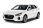 2018 Hyundai Elantra GT GT Sport MT 5 Door Hatchback angular front stock photos of front three quarter view