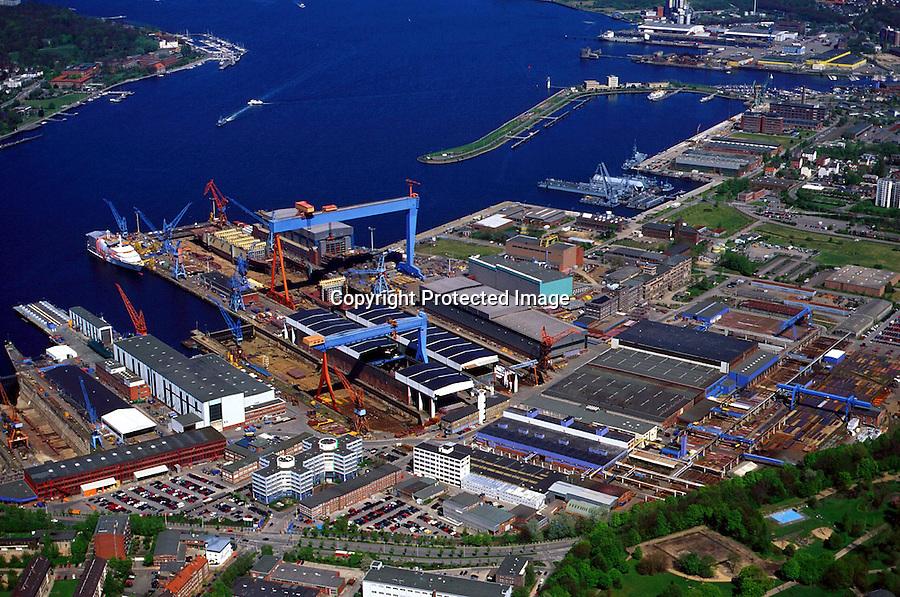 Deutschland, Schleswig- Holstein, Kiel, HDW Werft