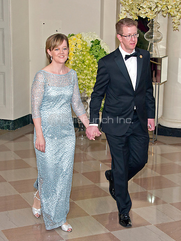 United States Representative Derek Kilmer (Democrat of Washington)<br /> and Jennifer Kilmer arrive for the State Dinner in honor of Prime Minister Trudeau and Mrs. Sophie Gr&Egrave;goire Trudeau of Canada at the White House in Washington, DC on Thursday, March 10, 2016.<br /> Credit: Ron Sachs / Pool via CNP/MediaPunch