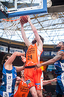 VALENCIA, SPAIN - NOVEMBER 22: John Shurna during Endesa League match between Valencia Basket Club and Retabet.es GBC at Fonteta Stadium on November 22, 2015 in Valencia, Spain