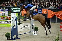 ZUIDBROEK - Paardensport, ICCH Zuidbroek, springen internationaal Grote Prijs , 05-01-2019, Bart Bles met Israel vd Dennehoeve winnaar in de barrage