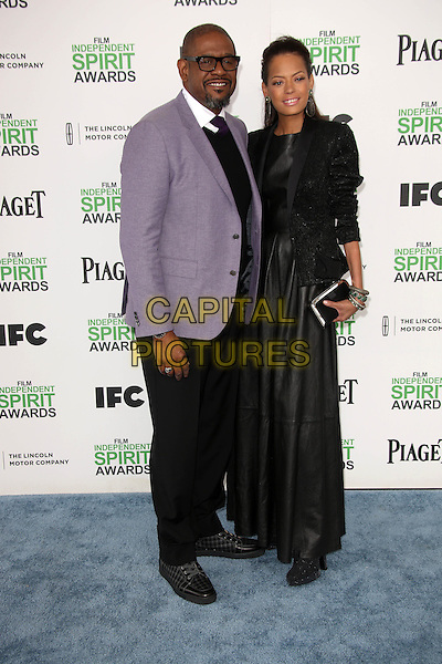 SANTA MONICA, CA - March 01: Forest Whitaker, Keisha Whitaker at the 2014 Film Independent Spirit Awards Arrivals, Santa Monica Beach, Santa Monica,  March 01, 2014. Credit: Janice Ogata/MediaPunch<br /> CAP/MPI/JO<br /> &copy;JO/MPI/Capital Pictures