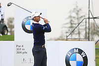 Nicolas Colsaerts (BEL) tees off the 2nd tee during Saturay's Round 3 of the 2014 BMW Masters held at Lake Malaren, Shanghai, China. 1st November 2014.<br /> Picture: Eoin Clarke www.golffile.ie