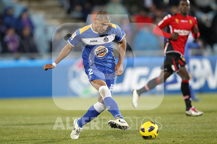 Getafe's Cata Diaz during la liga match on december 5th 2010...Photo: Cesar Cebolla / ALFAQUI