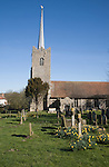 Parish church of the Holy Trinity at the village of Middleton, Suffolk, England