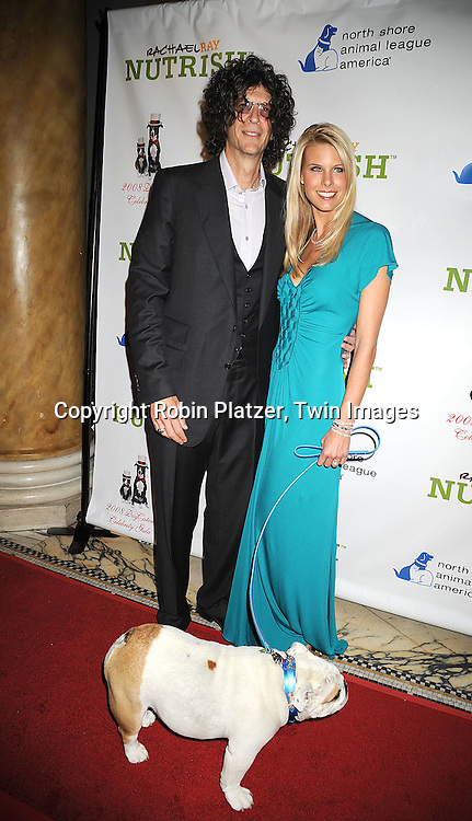 Howard Stern and new wife Beth Ostrosky with dog Bianca..at The North Shore Animal League America's 2008 DogCatemy Celebrity Gala on November 6, 2008 at Capitale in New York City. ....Robin Platzer, Twin Images