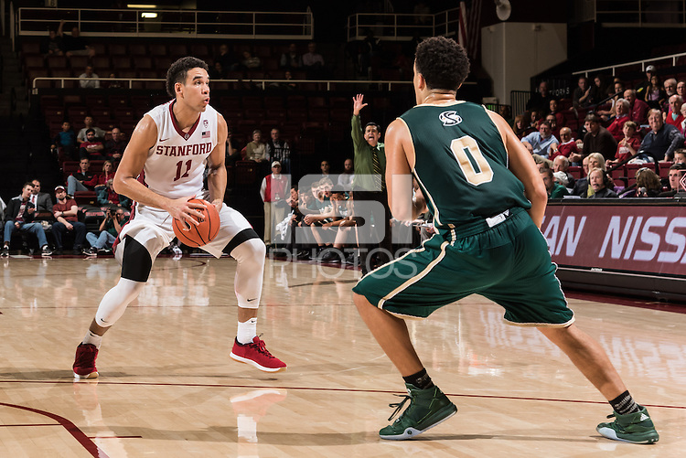 Stanford, CA; Monday December 21, 2015; Men's Basketball, Stanford vs. Sacramento State