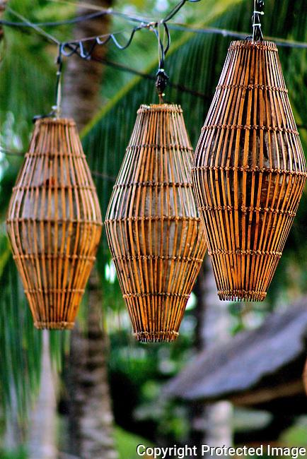 Balinese hanging lanterns resort festival ambience outdoor lighting