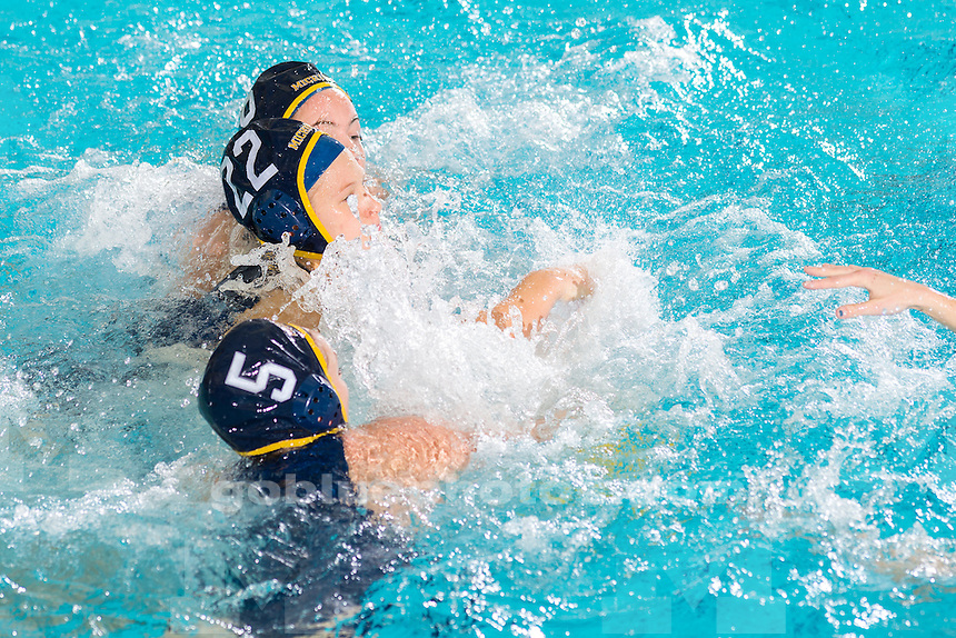 The University of Michigan women's water polo team, 14-8, victory over UC Santa Barbara at Canham Natatorium in Ann Arbor, Mich., on Jan. 31, 2016.