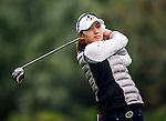 Min-Sun Kim of Korea plays a shot during the Hyundai China Ladies Open 2014 on December 12 2014 at Mission Hills Shenzhen, in Shenzhen, China. Photo by Li Man Yuen / Power Sport Images