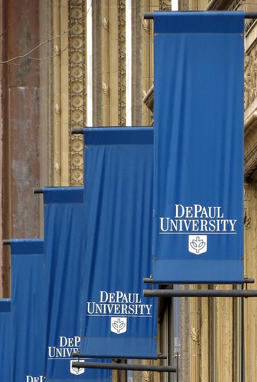 DePaul University - Signs, signage - The Loop, downtown campus.  (DePaul University/Jamie Moncrief)