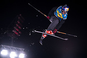 1st December 2017, Moenchengladbach, Germany;  Oscar Wester of Sweden in action in the men's finals of the Big Air Freestyle Skiing World Cup at the SparkassenPark venue in Moenchengladbach, Germany, 1 December 2017.