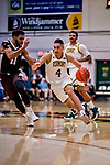 18 December 2018: University of Vermont Catamount Guard Robin Duncan, a Freshman from Evansville, IN, in first half action against the St. Bonaventure University Bonnies at Patrick Gymnasium in Burlington, Vermont. The Catamounts defeated the Bonnies 83-76 in a double-overtime NCAA DI game. Mandatory Credit: Ed Wolfstein Photo *** RAW (NEF) Image File Available ***