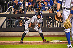 Ichiro Suzuki (Marlins),<br /> SEPTEMBER 14, 2015 - MLB :<br /> Ichiro Suzuki of the Miami Marlins leads off first base in the fifth inning during the Major League Baseball game against the New York Mets at Citi Field in Flushing, New York, United States. (Photo by Hiroaki Yamaguchi/AFLO)