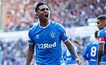 28.09.2018 Rangers v Aberdeen: Alfredo Morelos celebrates his goal