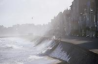 Europe/France/Bretagne/Ille et Vilaine/St Malo: Marée haute au Sillon
