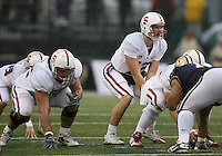 Oct 30, 20010:  Stanford quarterback #12 Andrew Luck sets up under center against Washington.  Stanford defeated Washington 41-0 at Husky Stadium in Seattle, Washington.