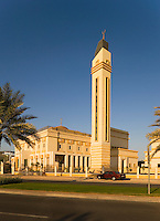 Dubai.  Newly constructed neighbourhood/neighborhood mosque at Emirates Hills community centre/center in residential area.