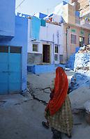 woman in the streets of Jodhpur,, Rajastan, India