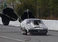 Mar 13, 2015; Gainesville, FL, USA; NHRA pro mod driver Steve Matusek during qualifying for the Gatornationals at Auto Plus Raceway at Gainesville. Mandatory Credit: Mark J. Rebilas-