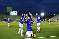 31st October 2019; Bezerrao Stadium, Brasilia, Distrito Federal, Brazil; FIFA U-17 World Cup Brazil 2019, Solomon Islands versus Paraguay; Fernando Presentado of Paraguay celebrates his goal with Diego Torres in the 68th minute for 0-4 - Editorial Use