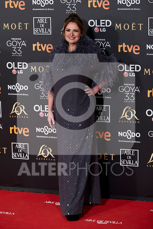Ainhoa Arteta attends to 33rd Goya Awards at Fibes - Conference and Exhibition  in Seville, Spain. February 02, 2019. (ALTERPHOTOS/A. Perez Meca)