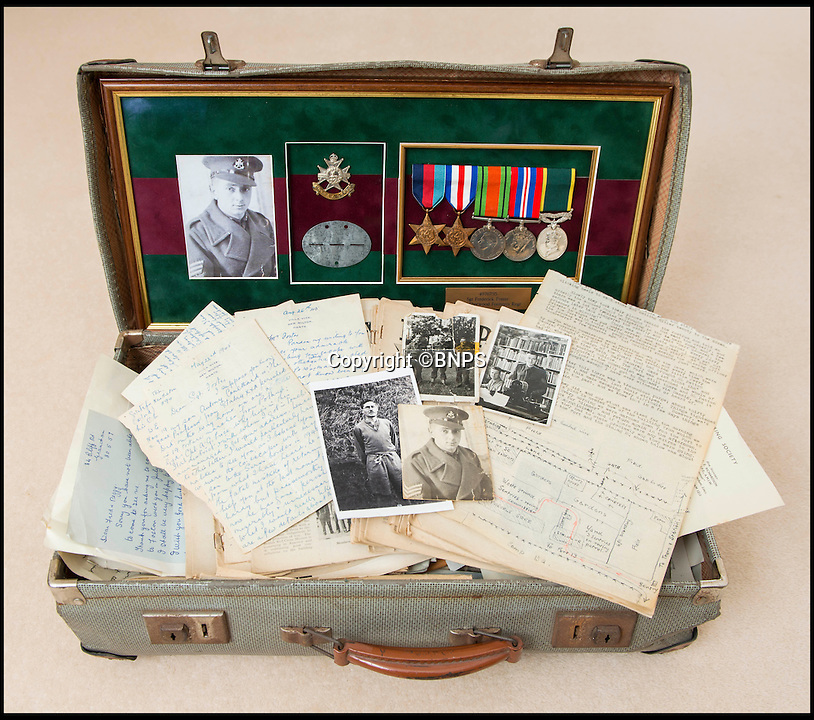 BNPS.co.uk (01202 558833)<br /> Pic: TomWren/BNPS<br /> <br /> The poignant story of how a British Prisoner of War paid with his life for turning back for a comrade during an audacious escape has been uncovered in an old suitcase.<br /> <br /> Frederick Foster and Antony Coulthard had travelled 1,000 miles across Poland and Germany before one of them was caught by a German guard on the Swiss border.<br /> <br /> Coulthard, who was free, went back for him and was also caught. He went on to die on a 'death march' towards the end of the war. <br /> <br /> Now Sgt Foster's son Steve is turning the epic escape into a book.