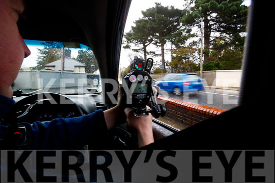 Gardai manning checkpoints in Tralee on National Slowdown day.