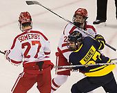 Doyle Somerby (BU - 27), Johnny McDermott (BU - 28), Patrick Kramer (Merrimack - 27) - The visiting Merrimack College Warriors defeated the Boston University Terriers 4-1 to complete a regular season sweep on Friday, January 27, 2017, at Agganis Arena in Boston, Massachusetts.The visiting Merrimack College Warriors defeated the Boston University Terriers 4-1 to complete a regular season sweep on Friday, January 27, 2017, at Agganis Arena in Boston, Massachusetts.