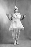 """La comedienne Cora Laparcerie (1875-1951) dans le role de Myriem dans la piece de theatre """"Le Minaret"""" (costume de Paul Poiret) de Jacques Richepin au theatre de le Renaissance a Paris, photo extraite du journal """"Le Theatre"""" Mai 1913  --- French comedian Cora Laparcerie (1875-1951) as Myriem in play """"Le Minaret"""" (costum by Paul Poiret) by Jacques Richepin in Paris, photo from french paper """"Le Theatre""""  may 1913"""