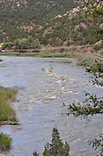Colorado River Guides crashing Yarmony & Cable Rapids while floating the Upper Colorado River from Radium to Two Bridges on the afternoon of June 7, 2014.