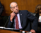 United States Senator Chuck Grassley (Republican of Iowa) waits to convent the US Senate Committee on the Judiciary meeting to vote on the nomination of Judge Brett Kavanaugh to be Associate Justice of the US Supreme Court to replace the retiring Justice Anthony Kennedy on Capitol Hill in Washington, DC on Friday, September 28, 2018.  If the committee votes in favor of Judge Kavanaugh then it goes to the full US Senate for a final vote.<br /> Credit: Ron Sachs / CNP<br /> (RESTRICTION: NO New York or New Jersey Newspapers or newspapers within a 75 mile radius of New York City)