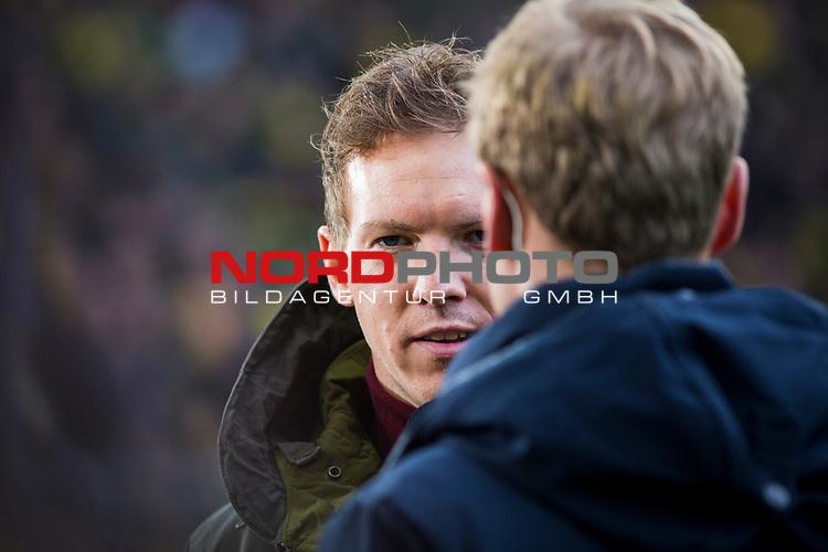 09.02.2019, Signal Iduna Park, Dortmund, GER, 1.FBL, Borussia Dortmund vs TSG 1899 Hoffenheim, DFL REGULATIONS PROHIBIT ANY USE OF PHOTOGRAPHS AS IMAGE SEQUENCES AND/OR QUASI-VIDEO<br /> <br /> im Bild | picture shows:<br /> Julian Nagelsmann (Trainer Hoffenheim) im Interview vor dem Spiel, <br /> <br /> Foto &copy; nordphoto / Rauch