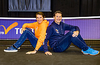 Rotterdam, The Netherlands, 9 Februari 2020, ABNAMRO World Tennis Tournament, Ahoy, Paul Haarhuis (NED) (L) and Jacco Elting (NED)<br /> Photo: www.tennisimages.com