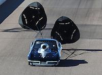 Feb 25, 2017; Chandler, AZ, USA; NHRA top sportsman driver Chris McCallum during qualifying for the Arizona Nationals at Wild Horse Pass Motorsports Park. Mandatory Credit: Mark J. Rebilas-USA TODAY Sports