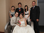 Taiwanese Wedding -- Photo op with the best men and the bride's maids.