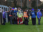The scene at the Dundalk Young Irelands V St Brigid's JFC final after a St Brigid's Maor Uisce was assaulted. Photo:Colin Bell/pressphotos.ie
