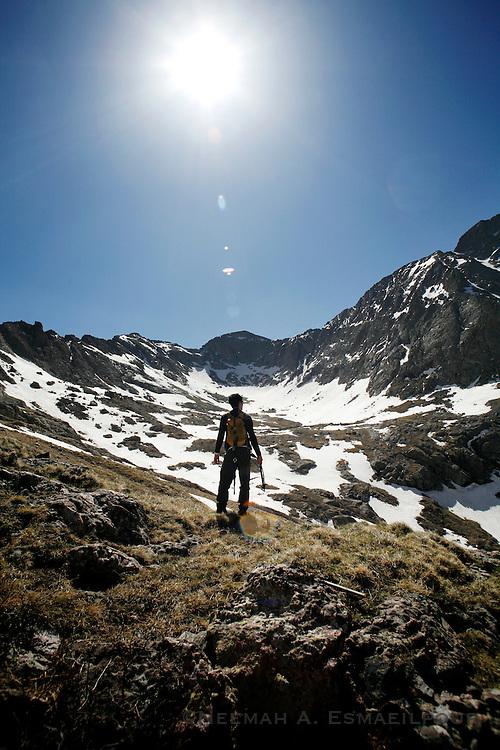 Climbing in the Crestones in Southern Colorado.
