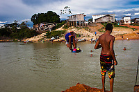 Daily life in a gold mining community named Jardim do Ouro ( Garden of Gold ) at Trans-garimpeira road, Para State, Amazon rain forest, Brazil.
