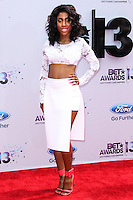 LOS ANGELES, CA - JUNE 30: Sevyn Streeter attends the 2013 BET Awards at Nokia Theatre L.A. Live on June 30, 2013 in Los Angeles, California. (Photo by Celebrity Monitor)
