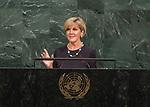 72 General Debate &ndash; 22 September <br /> <br /> <br /> <br /> Australian Minister for Foreign Affairs, Julie Bishop