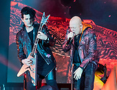 HELLOWEEN - Sascha Gerstner and Michael Kiske - performing live on the Pumpkins United World Tour 2017/2018 at the Ruhrcongress in Bochum Germany - 24 Nov 2017.  Photo credit: Thorsten Seiffert/IconicPix