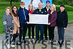 Ricky Kelly Annual Fundraiser in aid of John Sully O'Sullivan cheque presentation in the Deerpark Pitch & Putt, Killarney last Sunday. Pictured Sean Kelly (centre) presenting a cheque to Michelle O'Sullivan (2nd from the right) and Cialann O'Sullivan (3rd from the left) pictured with  l-r Ella Whitley, Clara O'Sullivan, Marguerite Whitley, Richard Bunyan and Ethan Whitley.